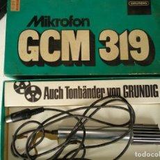 Radios antiguas: MICROFONO GRUNDIG GCM 319. Lote 165845274