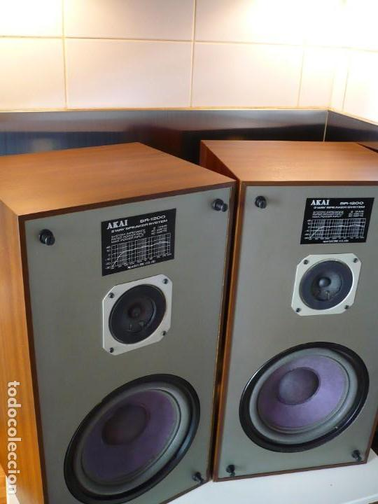 Radios antiguas: AKAI ALTAVOCES HI-FI. ALTA SENSIBILIDAD PARA VÁLVULA / TUBE. SUPER SONIDO - Foto 2 - 169852640