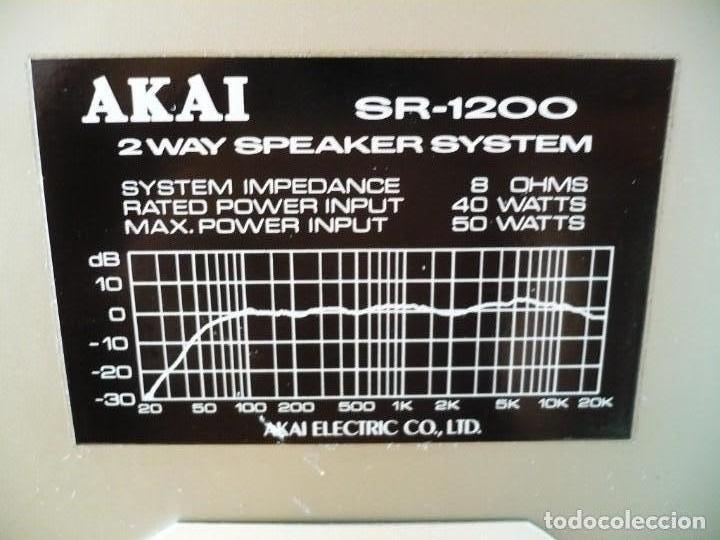 Radios antiguas: AKAI ALTAVOCES HI-FI. ALTA SENSIBILIDAD PARA VÁLVULA / TUBE. SUPER SONIDO - Foto 4 - 169852640
