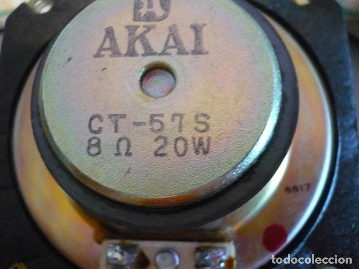 Radios antiguas: AKAI ALTAVOCES HI-FI. ALTA SENSIBILIDAD PARA VÁLVULA / TUBE. SUPER SONIDO - Foto 10 - 169852640