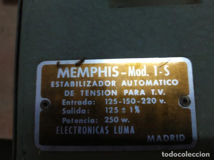 Radios antiguas: Estabilizador de tensión para televisor marca Memphis - Foto 4 - 174026190