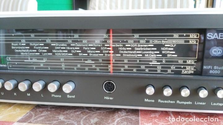 Radios antiguas: Amplificador RECEIVER SABA HIFI STUDIO 8050 VINTAGE - Foto 5 - 174376492