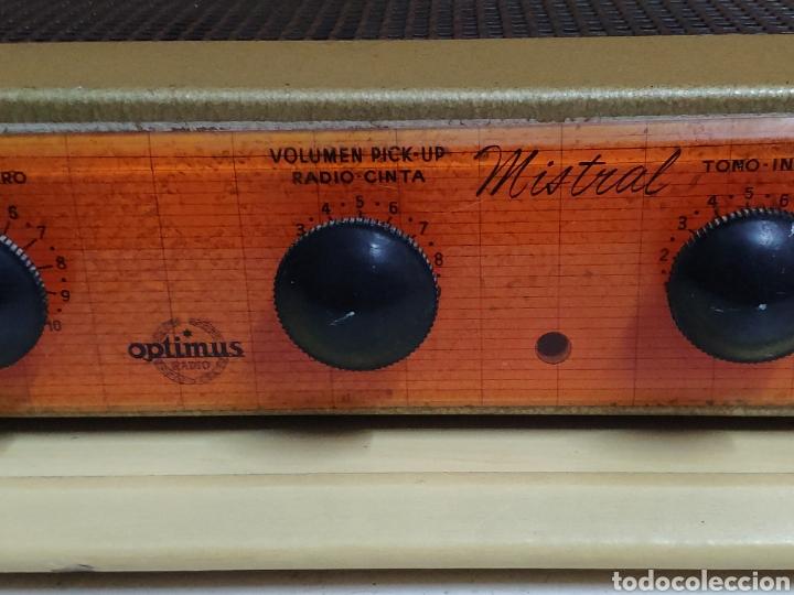 Radios antiguas: Amplificador de válvulas Optimus radio mistral modelo 515 - Foto 2 - 193745143