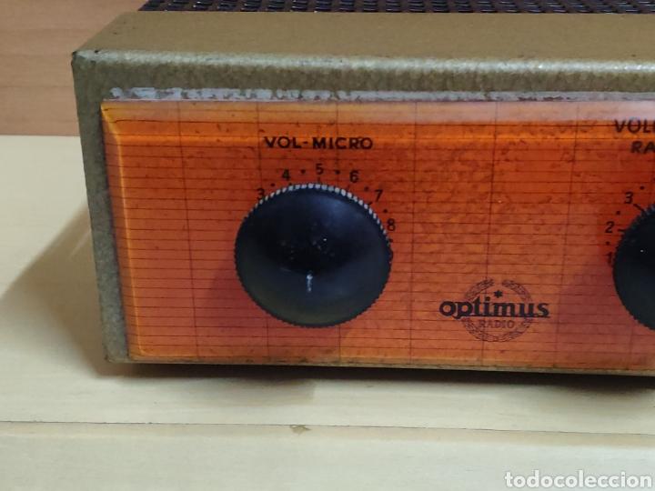 Radios antiguas: Amplificador de válvulas Optimus radio mistral modelo 515 - Foto 3 - 193745143