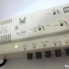 Radios antiguas: AMPLIFICADOR MULTIBANDA ALCAD LTE COMPATIBLE CA 340 UHF-UHF-VHF/FM 2 SAL CÓDIGO 9040116. Lote 176062528