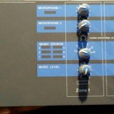 Radios antiguas: EQUIPO DE MEGAFONÍA PROFESIONAL CON SEPARACIÓN DE ZONAS + 4 AMPLIFICADORES DE ZONA. Lote 176234859