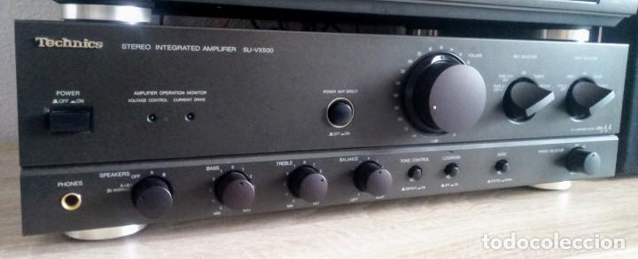 Radios antiguas: Amplificador Technics SU-VX500 // FUNCIONA// - Foto 2 - 171409043