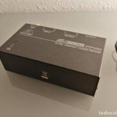 Radios Anciennes: PREAMPLIFICADOR DE PHONO BEHRINGER PP400. Lote 177043435