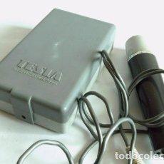 Radios antiguas: MICRÓFONO VINTAGE Y ALTAVOZ EXTERNO TESLA. Lote 179054573