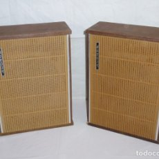 Radios antiguas: PAREJA DE ALTAVOCES DE MADERA - AKORDS.. Lote 181784961