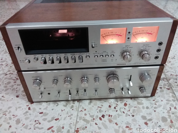 AMPLIFICADOR Y CASSET PIONNER SA 9100 (Radios, Gramófonos, Grabadoras y Otros - Amplificadores y Micrófonos de Válvulas)