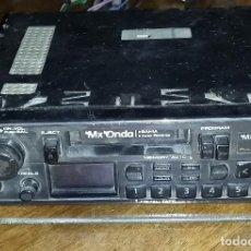 Radios antiguas: AUTORADIO - CASSETTE MX ONDA. FUNCIONA.. Lote 184368495