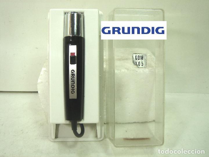 ANTIGUO MICROFONO GRABADORA- GRUNDIG GDM 305 -CLAVIJA DIN 7-GERMANY 60S 70-GRUNDING (Radios, Gramófonos, Grabadoras y Otros - Amplificadores y Micrófonos de Válvulas)