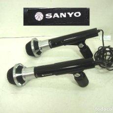 Radios Anciennes: 2X MICROFONOS - SANYO HM-941 940 DYNAMIC Ω 500 + PIES MICRO - HM941 HM940 DINAMICO. Lote 192670208