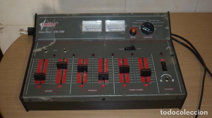 MESA DE MEZCLAS FONESTAR . SM-1500 (Radios, Gramófonos, Grabadoras y Otros - Amplificadores y Micrófonos de Válvulas)