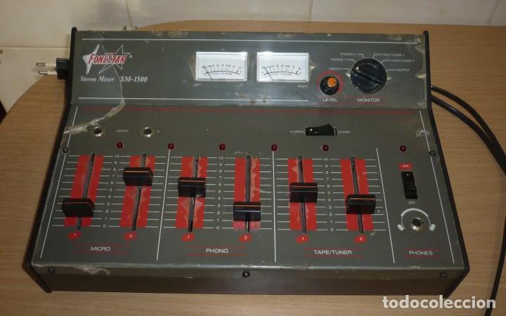 Radios antiguas: Mesa de Mezclas FONESTAR . SM-1500 - Foto 2 - 194253000