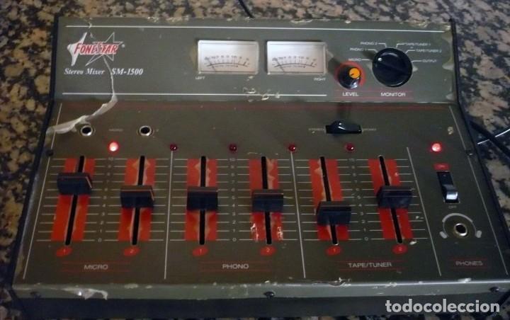Radios antiguas: Mesa de Mezclas FONESTAR . SM-1500 - Foto 5 - 194253000