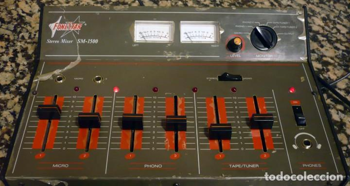 Radios antiguas: Mesa de Mezclas FONESTAR . SM-1500 - Foto 6 - 194253000