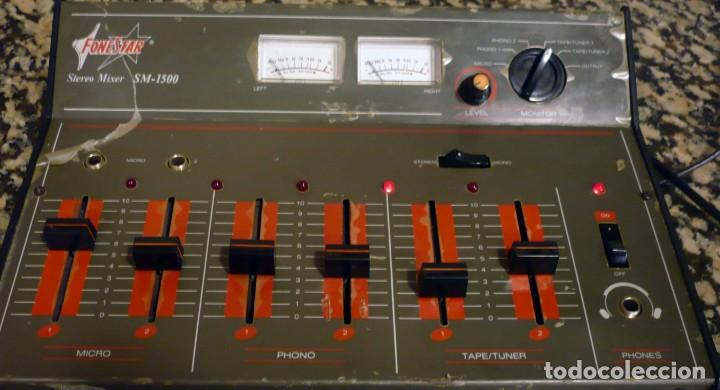 Radios antiguas: Mesa de Mezclas FONESTAR . SM-1500 - Foto 7 - 194253000