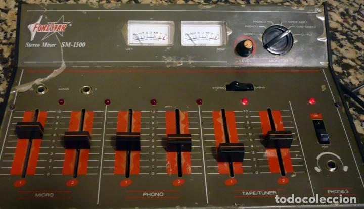 Radios antiguas: Mesa de Mezclas FONESTAR . SM-1500 - Foto 8 - 194253000