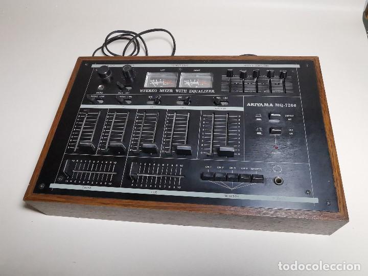 Radios antiguas: Mesa de mezclas Akiyama MQ 7200 -analogica 4 canales - Foto 2 - 194606248