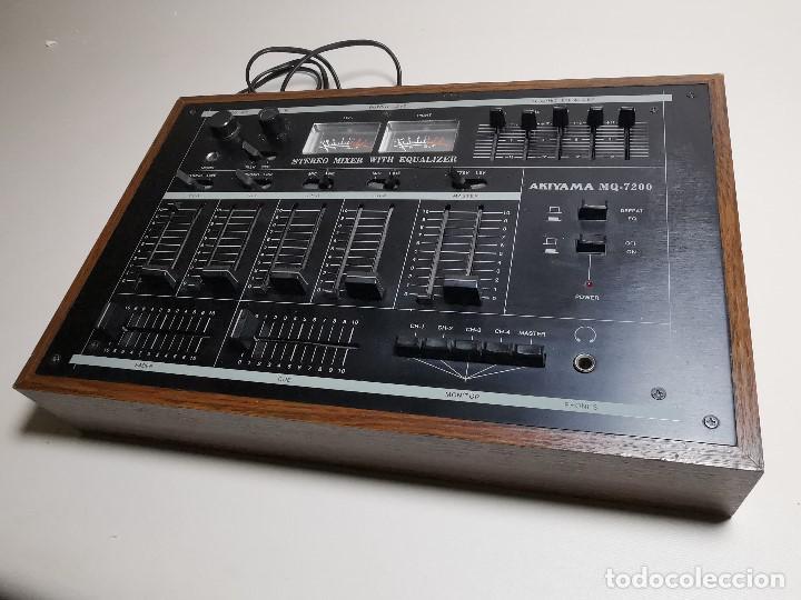 Radios antiguas: Mesa de mezclas Akiyama MQ 7200 -analogica 4 canales - Foto 4 - 194606248
