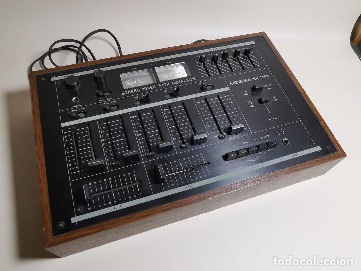 Radios antiguas: Mesa de mezclas Akiyama MQ 7200 -analogica 4 canales - Foto 5 - 194606248