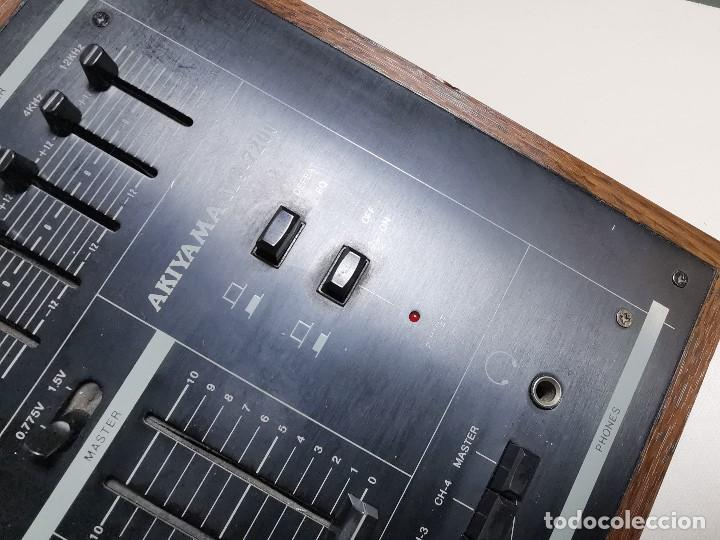Radios antiguas: Mesa de mezclas Akiyama MQ 7200 -analogica 4 canales - Foto 17 - 194606248
