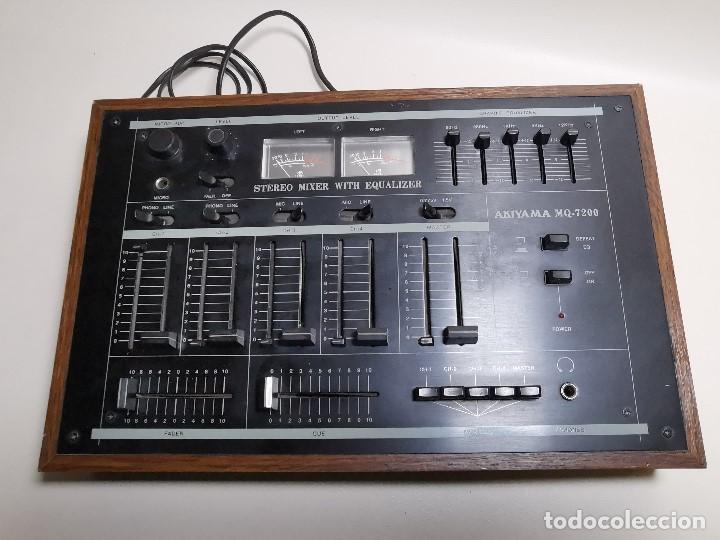 Radios antiguas: Mesa de mezclas Akiyama MQ 7200 -analogica 4 canales - Foto 18 - 194606248