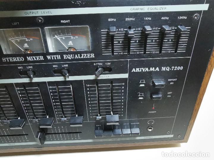 Radios antiguas: Mesa de mezclas Akiyama MQ 7200 -analogica 4 canales - Foto 20 - 194606248