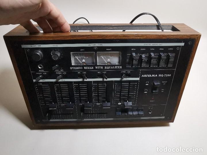 Radios antiguas: Mesa de mezclas Akiyama MQ 7200 -analogica 4 canales - Foto 25 - 194606248