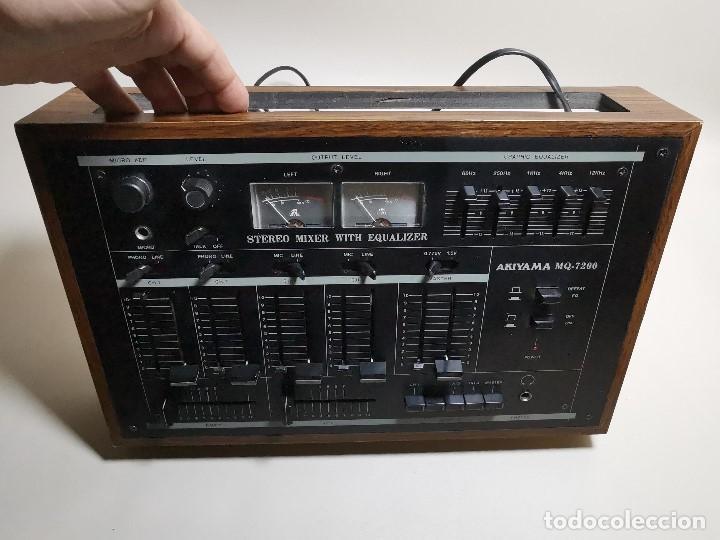 Radios antiguas: Mesa de mezclas Akiyama MQ 7200 -analogica 4 canales - Foto 26 - 194606248