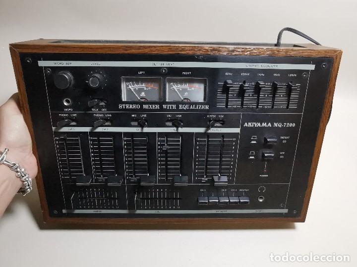 Radios antiguas: Mesa de mezclas Akiyama MQ 7200 -analogica 4 canales - Foto 46 - 194606248