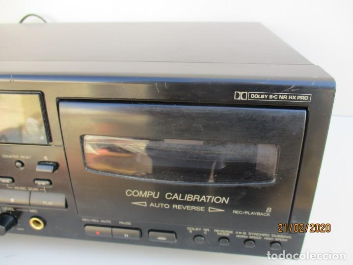 Radios antiguas: Pletina cassette JVC TDW318 en regular estado ver fotos y descripcion - Foto 3 - 194788956