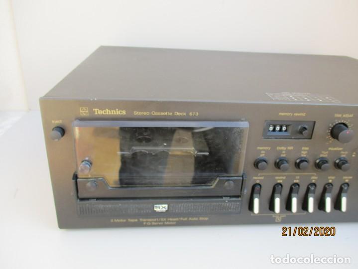 Radios antiguas: PLETINA TECHNICS STEREO CASETE DEK 673 DE LA VIEJA ESCUELA VER FOTOS Y DESCRIPCION - Foto 2 - 194789292