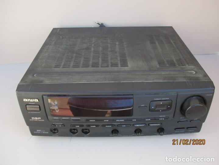 AMPLIFICADOR AIWA PROBADO ENTRADAS AUX1 AUX2 PHONO Y FUNCIONA VER MAS DESCRIPCION (Radios, Gramófonos, Grabadoras y Otros - Amplificadores y Micrófonos de Válvulas)