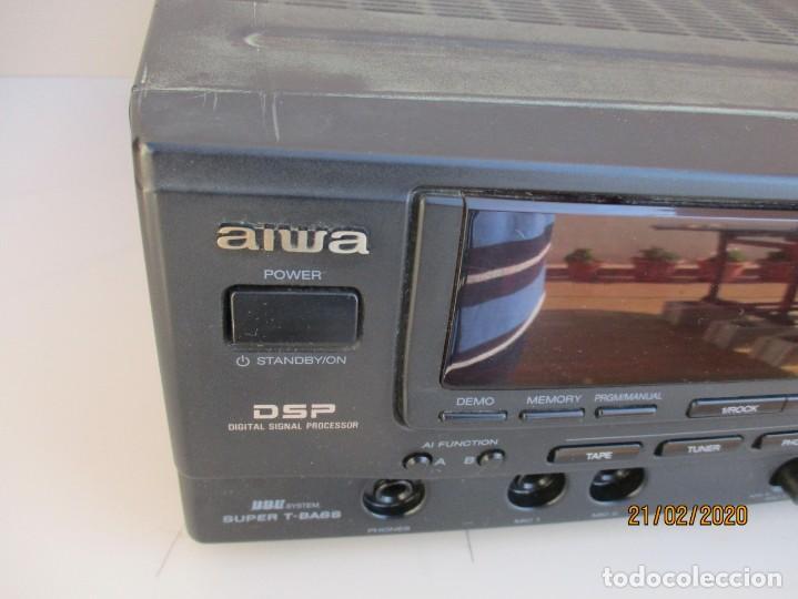 Radios antiguas: AMPLIFICADOR AIWA PROBADO ENTRADAS AUX1 AUX2 PHONO Y FUNCIONA ver mas descripcion - Foto 2 - 194850547