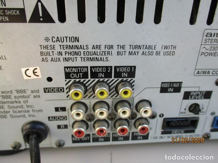 Radios antiguas: AMPLIFICADOR AIWA PROBADO ENTRADAS AUX1 AUX2 PHONO Y FUNCIONA ver mas descripcion - Foto 6 - 194850547