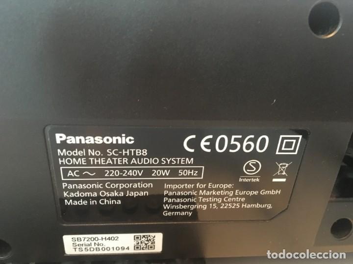 Radios antiguas: Barra sonido Panasonic Mod. SC-HTB8 - Foto 3 - 195327697