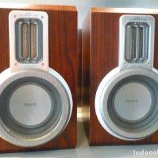 Radios antiguas: PHILIPS ALTAVOCES MODERNOS HI-FI. BASS REFLEX. PERFECTO ESTADO. Lote 195726361