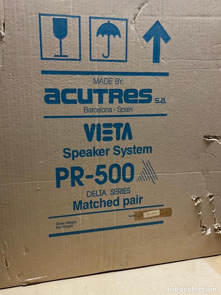 Radios antiguas: ALTAVOCES VINTAGE VIETA PR-500 DELTA SERIES EN CAJA - ACUTRES SA BARCELONA 25x20x45 cm - Foto 13 - 205018647