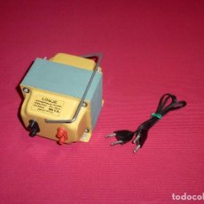 Radios antiguas: TRANSFORMADOR LOYJE,REVERSIBLE 125V - 220V - 750W,CON SU CABLE Y CAJA ORIGINAL.. Lote 206503433