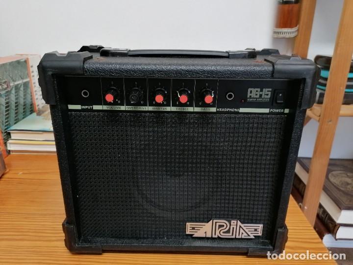 AMPLIFICADOR DE GUITARRA ARIA AG-15. (Radios, Gramófonos, Grabadoras y Otros - Amplificadores y Micrófonos de Válvulas)
