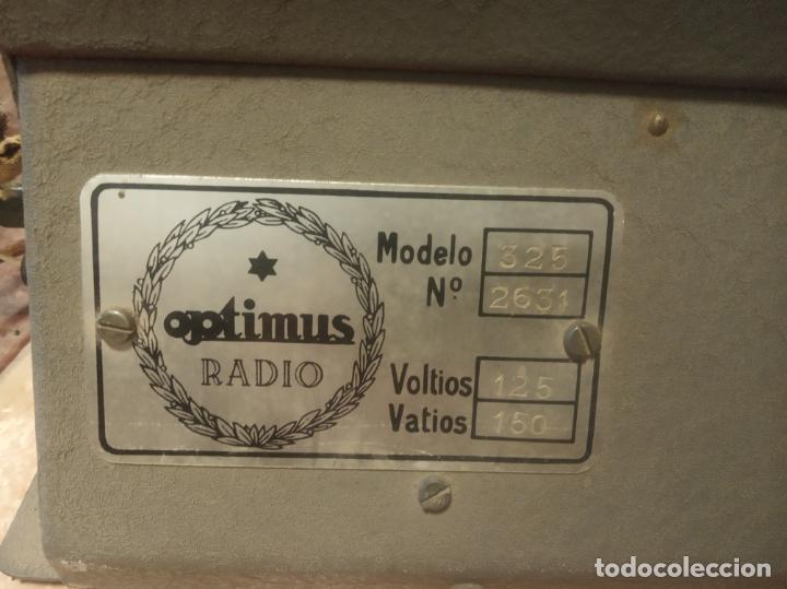 Radios antiguas: Antiguo y enorme amplificador de válvulas. Óptimus radio. 125 V. 150W. Muy pesado. - Foto 2 - 214411351