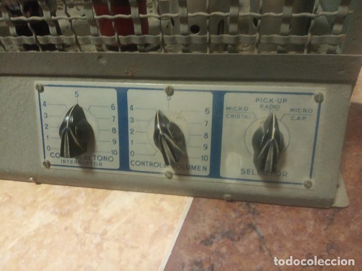 Radios antiguas: Antiguo y enorme amplificador de válvulas. Óptimus radio. 125 V. 150W. Muy pesado. - Foto 3 - 214411351