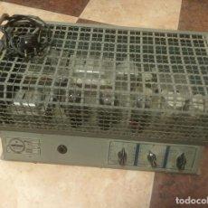 Radios antiguas: ANTIGUO Y ENORME AMPLIFICADOR DE VÁLVULAS. ÓPTIMUS RADIO. 125 V. 150W. MUY PESADO.. Lote 214411351