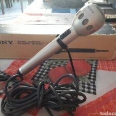 Radios Anciennes: MICROFONO SONY F-510 CON SU SOPORTE DE MESA. DANI. Lote 215280618