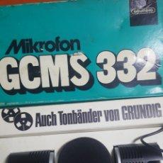 Radios antiguas: MICROFONO GRUNDIG STEREO GCMS 332.. Lote 215843088
