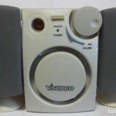 Radios antiguas: PAREJA DE ALTAVOCES CON AMPLIFICADOR MARCA VIVANCO. REF. PRO 2,1 LS - RDC,ME 17136.. Lote 217085168