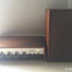 Rádios antigos: AMPLIFICADOR PHILIPS.MODELO 22GH925 Y ALTAVOZ PHILIPS. Lote 218243606
